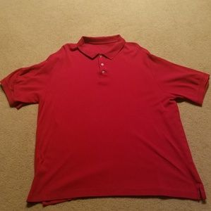 Lands End Mens Polo Red XL short sleeve